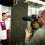Behind-the-scenes images from the photoshoot for Villa's new 2013-14 away kit.