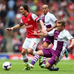 Arsenal 1-3 Villa - match action from brilliant opening day win at the Emirates. Picture by Getty Images.