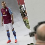 Behind the scenes at the kit launch photoshoot for 2014-15. Picture by Neville Williams/Getty Images/Aston Villa.