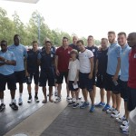 The Villans have landed – as a contingent of claret and blue players visited the Space Centre Houston. Pictures by Neville Williams/Aston Villa/Getty Images.