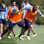 Villa v Newcastle training pictures. Pictures by Neville Williams/Aston Villa/Getty Images.