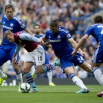 Images from Villa's loss to Chelsea at Stamford Bridge. Pictures by Neville Williams/Aston Villa/Getty Images.