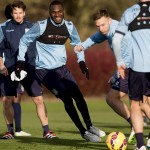 Images as the players train ahead of Saturday's big game with Man Utd at Villa Park. Pictures by Neville Williams/Aston Villa/Getty Images.