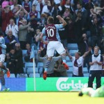 MATCH PIC: Great photo of Andi Weimann celebrating his second goal.