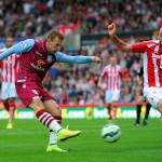 © Getty Images / Weimann blasts home Villa's opening goal to put the visitors ahead in a tight clash at the Britannia Stadium against Stoke