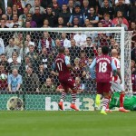 © Getty Images / Weimann's shot finds its way past Asmir Begovic in the Stoke goal - although he can't be seen in this photo - and it puts the visitors ahead